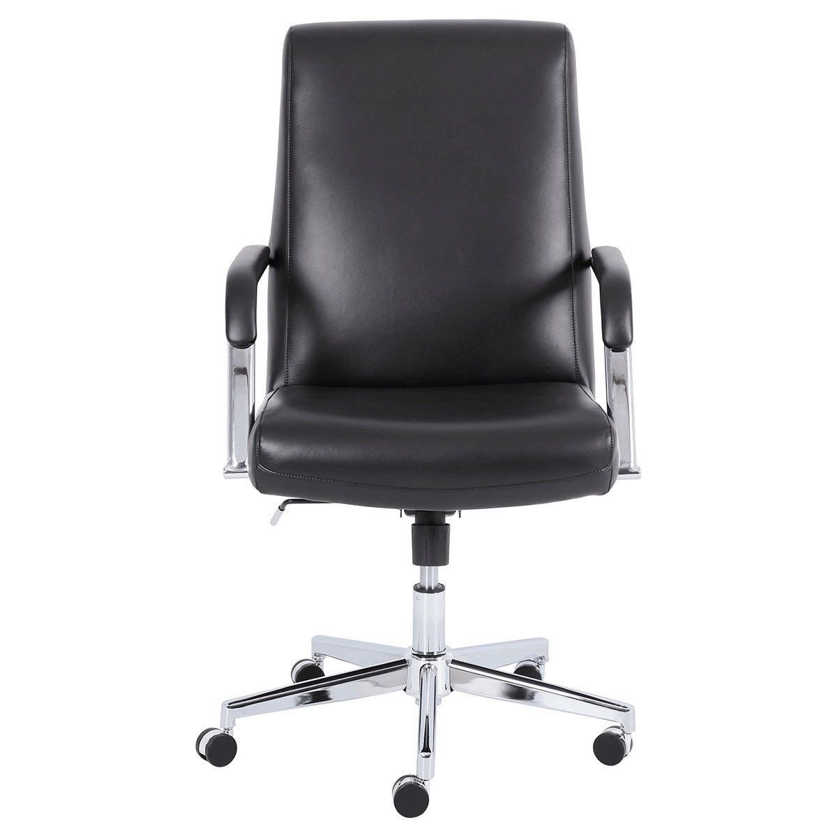 True Innovations Top Grain Black Leather Manager Chair